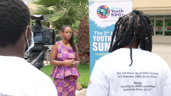 Nataki TV interview at African Youth Sustainable Development Goals Conference